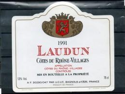 COTE DU RHONE VILLAGES - Laudun 1991 - Côtes Du Rhône