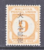 JAPANESE  OCCUPATION  MALAYA  N J 17    * - Malayan Postal Union