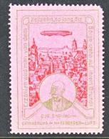 GERMANY  AEROPHILATELIC  VIGNETTE  MEMORY Of  GRAF  ZEPPELIN    1908   * - Airmail