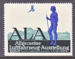 GERMANY  AEROPHILATELIC  VIGNETTE  AERO  FAIR  BERLIN   1912   ** - Airmail