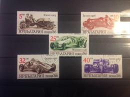Bulgarije - Serie Raceauto's 1986 - Bulgarije