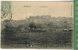 Montfort Vue Gènèrale 1906Verlag:Corn Et Papin,  Postkartemit Frankatur  Mit 2 X Stempel, Juni 1906MIT BEFÖRDERUNGSSPURE - Montfort L'Amaury