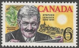 Canada. 1969 Birth Centenary Of Stephen Butler Leacock. 6c MH. SG 646 - 1952-.... Reign Of Elizabeth II