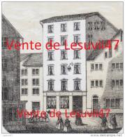 """Seltene Und Superb Lithographierte Karte Besuch """" Hotel Goldenen Adler """", Mathias Gyr, Einsiedeln (1845-1850) . - SZ Schwyz"""
