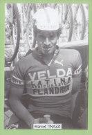 Marcel TINAZZI. 2 Scans. Velda Flandria - Cyclisme