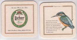 Licher Vögel Der Auen Bier , Nr 1 Eisvogel - Bierdeckel
