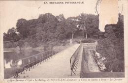 22124 PRES D'UZEL BARRAGE DE BOSMELAC Alimentant Canal Nantes Brest -la Chaussée -4244 AW -! état !