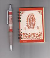 Ballpoint - Stylo - Vulpen - Bolígrafo And Notebook With The Image Of Our Lady Of Guadalupe - Mexico - Obj. 'Herinnering Van'