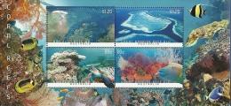 AUS1301s Australia 2013 Coral Reef Turtle Fish S/s - Neufs