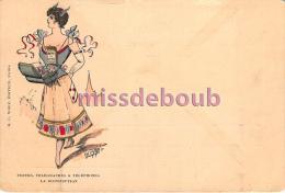 POSTES, TELEGRAPHES & TELEPHONES - La Distribution  - Illustration - H.C. Wolf édideur Paris - Precurseur - Poste & Postini
