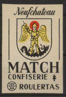 NEUFCHATEAU Etiquette Allumettes Old  Matchbox Label Belgium Belgique Blason Ecusson Wapen Heraldique Confiserie Match - Boites D'allumettes - Etiquettes