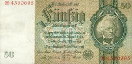 Deutschland, Germany - 50 Mark, Reichsbanknote, Ro. 175 A ,  ( Serie E/H  ) 1934 ! - 50 Reichsmark