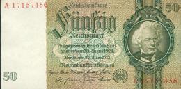 Deutschland, Germany - 50 Mark, Reichsbanknote, Ro. 175 B ,  ( Serie K/A  ) 1934 ! - 50 Reichsmark