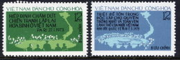 VIETNAM 1974 2nd Anniversary Of Paris Agreement Set Of 2  MNH / (*).  Sc. 753-54 - Vietnam