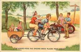Themes Div- Transports - Ref G264- Dessin Illustrateur - Velo Et Moto   -carte Bon Etat   - - Cartes Postales
