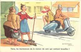 Themes Div- Transports - Ref G259- Illustrateur Chaperon Jean - Le Scooter  - Theme Scooters - Carte Bon Etat   - - Cartes Postales