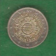 2  €uros  AUTRICHE Commémo  Circulée  2002-2012  (PRIX FIXE)     ( BH12) - Autriche