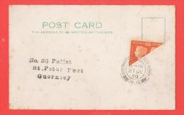 Guernsey St.Peter Port 27 DE 1940 CH.IS. Très Beau Demi Timbre Sur Carte - Guernesey