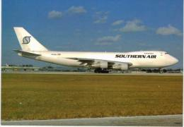 Thème -  Avion -  World Collector´s Cards 203 - Southern Air Boeing 747 200 - Miami 1995