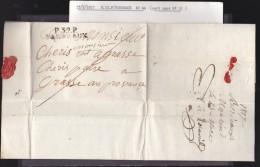 France - Lettre 1817 Marque Postale - Cachet Port Payé P32P Bordeaux - Marcophilie (Lettres)