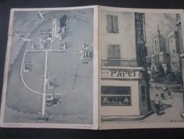 Encart Publicitaire: Hôtel Du Palais Des Papes Avignon Gravure (signée) Et Plan  Publicité, Dépliant - Publicités