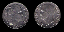# 1940 ITALY 20cent Kingdom Victor Emmanuel III Fasces Nice Condition - 1861-1946 : Kingdom