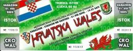 Sport Match Ticket (Football / Soccer) - Croatia Vs Wales: 2002-08-21 - Tickets & Toegangskaarten