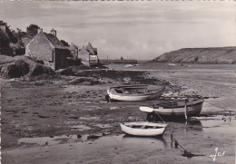 22152 Le Conquet (Finistère) Un Coin Pittoresque, L´arrière Port à Marée Basse 1235 Jos -barque Peche Bateau