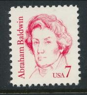 USA 1985 Scott # 1850. Great Americans Issue: Abraham Baldwin, MNH (**) - Nuevos