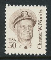 USA 1985 Scott # 1869. Great Americans Issue: Chester W. Nimitz, MNH (**) - Nuevos