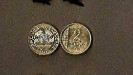 Tajikistan 2 Diram 2011-VERY RARE!-coin Never Been Issued!! - Tajikistan
