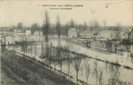 PRIX FIXE !! 94 CRETEIL ST MAUR - INONDATIONS 1910 PANORAMA VILLA SCHAKEN - Creteil