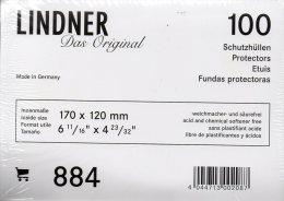 Brief-Hüllen 100-Box Neu 13€ Schutz/Einsortieren Normaler Briefe #884 LINDNER 170x120mm For Letter Too Postcard Of World - Matériel