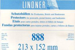 Hüllen 100-Box A5 #888 Neu 17€ Schutz/Einsortieren Große Briefe/Karte LINDNER 213x152mm For Letter Too Postcard Of World - Matériel