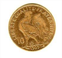 10 FRANCS OR  Coq  De 1909   Assez   Rare - Or