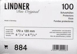 Brief-Hüllen 100-Box Neu 13€ Schutz/Einsortieren Normaler Briefe #884 Lindner 170x120mm For Letter Too Postcard Of World - Enveloppes Transparentes