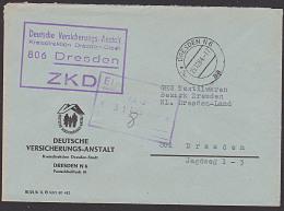 """DDR ZKD """"Deutsche Versicherungsanstalt Kreisdirektion"""" Dresden 1964 - Official"""