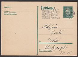 DR Festspiele 1929 Mai-Juni MWSt. Berlin Charlottenburg 1929 Auf GA-Karte - Lettres & Documents