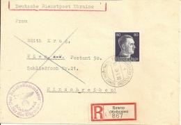 1942 - Ukraine, ROWNO, Super Zustand, 2 Scans - 1941-43 Occupation: Germany