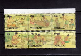 TOKELAU 1990 PAINTINGS DIPINTI MEN'S HANDICRSFTS ARTIGIANATO LOCALE MASCHILE MNH - Tokelau