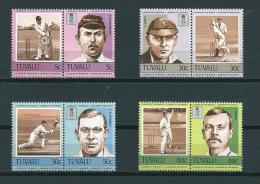 1984 Tuvalu Complete Set/pairs Cricket MNH,Postfris,Neuf Sans Charniere - Tuvalu