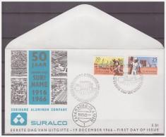 Surinam / Suriname 1966 FDC 51 -4M  50 Year Bauxite Mining Aluminium - Suriname