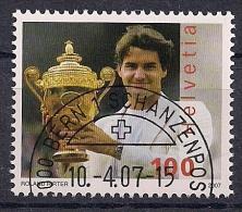 2007 Schweiz Mi. 2006  FD-used Roger Federer - Switzerland
