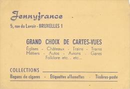 JENNYFRANCE-magasin De Cartes -vues-bagues De Cigares-étiquettes Allumettes-timbres-poste-cartophilie-philatélie - Cartes De Visite