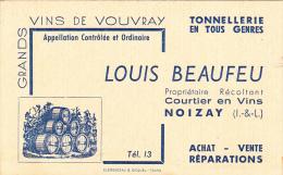 NOIZAY  Carte De Visite  Courtier En Vins   Tonnellerie  Vins De Vouvray - Visiting Cards