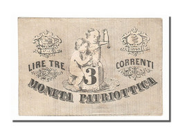 [#153972] Italie, Venise, 3 Lire Type Moneta Patriottica - [ 1] …-1946 : Royaume