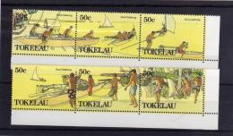 TOKELAU ISLANDS 1989  TRADITIONAL PROCUREMENT FOOD GATHERING COCO NUTS NOCI DI COCCO STRIPS  MNH - Tokelau