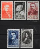FRANCE 1949 - CONGRES INTERN. De TELEGRAPHIE Et Jean RACINE - Du N° 844 Au 848 - 5 Timbres NEUF**Luxe Y&T 11,50€ - France