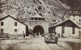 Bardonèche, Bardonnecchia - TUNNEL DU MONT CENIS - Moncenisio - PHOTO ALBUMINE Vers 1870 - 2 Scans - Foto