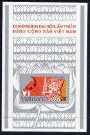VIETNAM 1986 6th Communist Party Congress Block MNH / (*).  Sc. 1704 - Vietnam